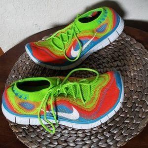 Nike Flyknit Free 5.0 Rainbow + Mens Size 8